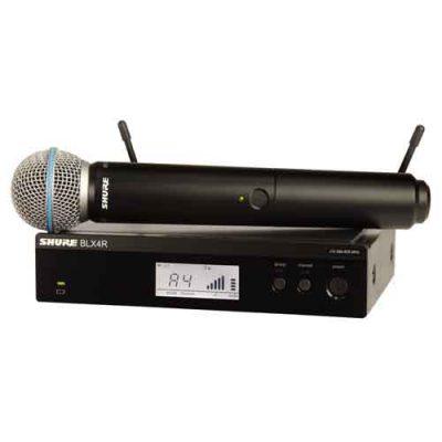 SHURE BLX24R/B58Handheld Wireless System SHURE BLX24R/BETA58 ชุดไมค์ลอย แบบมือถือเดี่ยว ย่าน UHFSHURE BLX24R/BETA58 ไมค์ลอย ไมโครโฟนไร้สาย