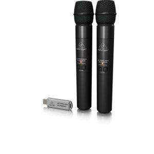 BEHRINGER ULM-202USB ชุดไมค์ลอย มือถือคู่ 2.4 GHz รับสัญญาณผ่าน USB BEHRINGER ULM-202USB Dual Handheld Wireless Microphone ของแท้ มีประกัน ส่งฟรี!!