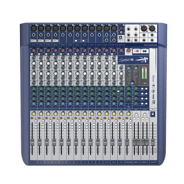 SOUNDCRAFT Signature 16เครื่องผสมสัญญาณเสียง ระบบ อนาล็อก 16 ชาแนล SOUNDCRAFT Signature 16 มิกเซอร์อนาล็อก SOUNDCRAFT Signature 16 Compact analogue mixing
