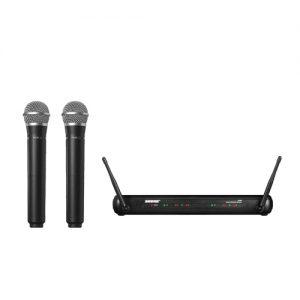 SHURE SVX288/PG58 Dual Handheld Wireless Microphone Systems SHURE SVX288/PG58 ไมค์ลอย ไมโครโฟนไร้สายแบบมือถือคู่ย่าน UHFSHURE SVX288/PG58Microphone