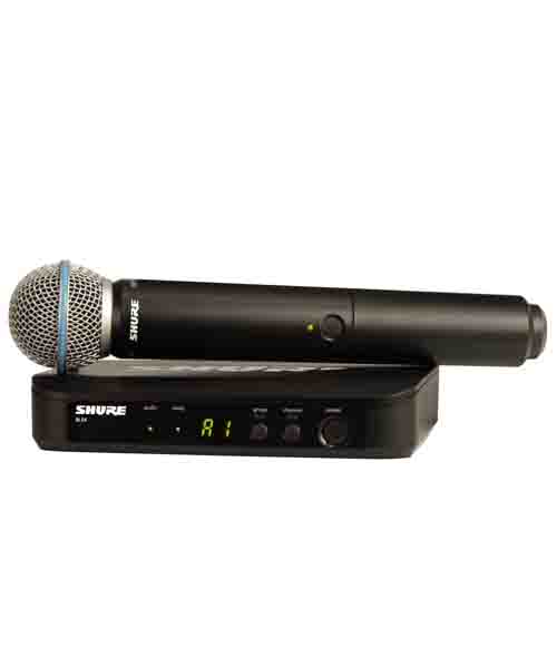 SHURE BLX24/B58 ชุดไมค์ลอย แบบมือถือเดี่ยว ย่าน UHFSHURE BLX24/B58 ไมค์ลอย ไมโครโฟนไร้สาย ของแท้ มีประกัน รับบัตรเครดิตออนไลน์ จัดส่งฟรีทั่วไทย!!