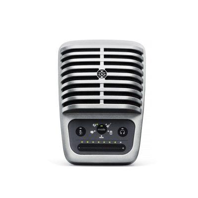 SHUREMV51 Large-diaphragm Condenser Microphone for iOS and USB SHURE MV51 ไมค์บันทึกเสียง ดิจิตอลSHURE MV51 ไมโครโฟนบันทึกเสียง