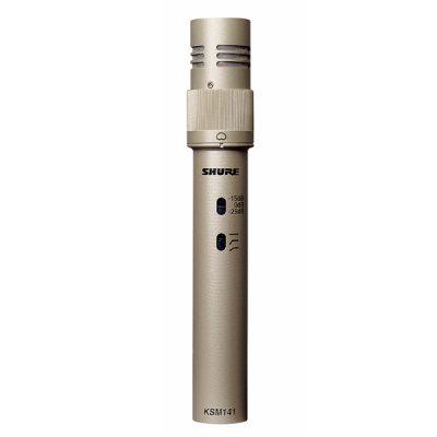 Dual-Pattern Instrument Microphone SHURE KSM141/SL ไมค์จ่อเครื่องดนตรี จ่อเครื่องดนตรีได้หลายชนิด อาทิเช่น กลอง กีต้าร์ เปียโน SHURE KSM141 ไมค์เครื่องดนตรี