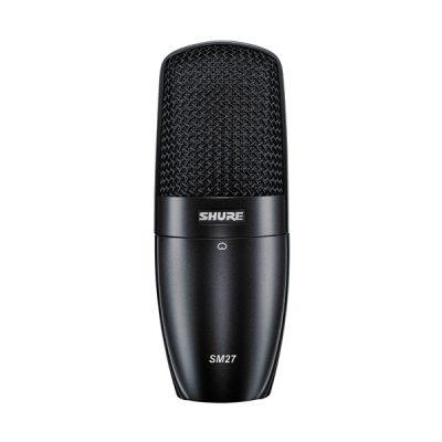 Multi-Purpose Microphone SHURE SM27-LC ไมค์บันทึกเสียงSHURE SM27 บันทึกเสียงร้อง เสียงเบส เสียงกีตาร์ ในห้องสูติโอ แบบ Side-Address Condenser