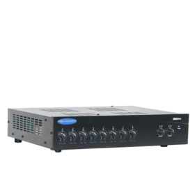 CROWN 280MAEight Input, Dual 80W Mixer-Amplifier CROWN 280MA มิกเซอร์แอมป์ 8In/2Out 80Wx2 ที่ 4โอห์ม 80Wx2 ที่ 70/100VCROWN 280MAMixer-Amplifier