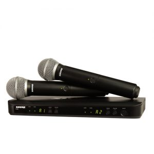 SHURE BLX288/PG58 Dual Channel Handheld Wireless System SHURE BLX288/PG58 ชุดไมค์ลอย แบบมือถือคู่(ไมค์ลอย 2 ตัว) SHURE BLX288/PG58ไมค์ลอย ส่งฟรีทั่วไทย!!