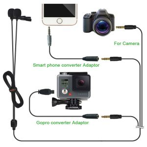 COMICA CVM-D02 Dual-head Lavalier Microphone for Gopro ไมค์คลิป สำหรับกล้องวีดีโอ สมาร์ทโฟน และกล้องวีดีโอ DSLR ซาวด์ดีดี ช็อป