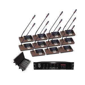 SOUNDVISION DCW-8900 PRO SET ชุดไมโครโฟนห้องประชุม ชุดไมค์ห้องประชุมแบบไร้สาย ระบบดิจิตอล สำหรับผู้เข้าร่วมประชุม รวม 11 ท่าน รับออกแบบ ติดตั้ง ครบวงจร