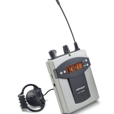 OKAYO EJ-7R Bodypack Receiver with Earphone OKAYO EJ-7R ชุดทัวร์ไกด์ ชุดแปลภาษาไร้สาย เครื่องรับสัญญาณ สำหรับผู้รับฟังการบรรยาย ความถี่ 96 ช่อง