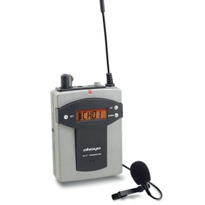 OKAYO EJ 7T Bodypack Transmitter with Clip Microphone OKAYO EJ-7T ชุดทัวร์ไกด์ แปลภาษาไร้สาย เครื่องส่งทัวร์ไกด์ สำหรับผู้บรรยาย ความถี่ 96 ช่อง