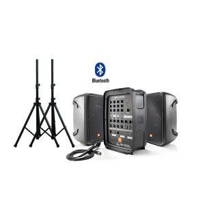 "JBL EON 208P ชุดเครื่องเสียงเคลื่อนที่ คลาส D 300 วัตต์ เพาเวอร์มิกเซอร์ 8 ชาแนล Bluetooth® Packaged 8"" 2-Way PA with Powered 8-Channel Mixer and Bluetooth®"