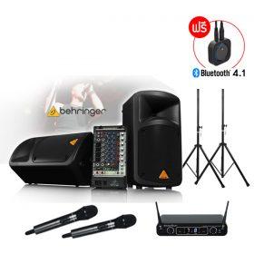 BEHRINGEREPS-500MP3+ DU-288 Wireless Microphone ชุดเครื่องเสียงเคลื่อนที่ 500 วัตต์ เพาเวอร์มิกเซอร์ 8 ชาแนล พร้อมไมค์ลอยดิจิตอลคู่ เครื่องเสียงเคลื่อนที่