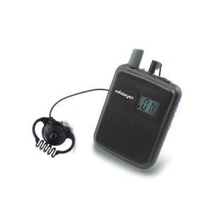 OKAYO WT-300R Bodypack Receiver OKAYO WT-300R เครื่องรับสัญญาณเสียงชุดทัวร์ไกด์ สำหรับผู้ฟัง (พร้อมหูฟัง) ความถี่ได้ 80 ช่องOKAYO WT-300Rชุดทัวร์ไกด์
