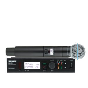 SHURE ULXD24A/B58-V52 ชุดไมค์ลอย แบบมือถือเดี่ยว ย่าน VHF 174 – 210MHz ไมโครโฟนไร้สาย แบบ Handheld Digital Wireless System รับประกันของแท้ 100% ส่งฟรี!