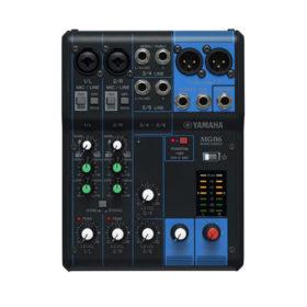 YAMAHA MG06 มิกเซอร์ อนาล็อก 6 ชาแนล YAMAHA MG06 Analog Mixer 6 Input (2 mono + 2 stereo) 1 Stereo Bus YAMAHA MG06 เครื่องผสมสัญญาณเสียง อนาล็อก