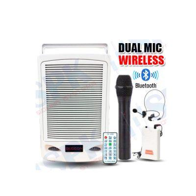 DECCON PWS-230UTB ชุดเครื่องเสียงกระเป๋าหิ้ว 75W พร้อมไมค์ลอยคู่ USB/SD MP3/FM มีบลูทูธในตัว (ไมค์ลอยใช้ได้พร้อมกัน 2 ไมค์)