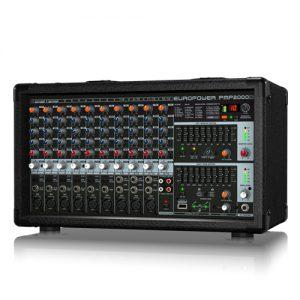 BEHRINGER PMP-2000D 2000-Watt 14-Channel Powered Mixer เครื่องผสมสัญญาณเสียง มีแอมป์ในตัว 14 ชาแนล 9 ไมค์ คลาส D 2x1000 วัตต์ ที่ 4 โอมห์Powered Mixer