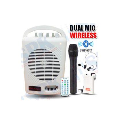 DECCON PWS-210UTB เครื่องขยายเสียง กระเป๋าหิ้ว 50 วัตต์ พร้อมไมค์ลอยคู่ มีช่องเสียบ USB/SD เล่น MP3/FM และบันทึกเสียง มีสัญญาณเชื่อมต่อบลูทูธในตัว