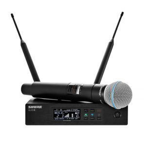Digital Handheld Wireless Mic SHURE QLXD24/BETA58A ชุดไมค์ลอยมือถือเดี่ยวแบบมือถือย่าน UHF (794 - 806MHz) ระบบดิจิตอลSHURE QLXD24/BETA58A ไมโครโฟนไร้สาย