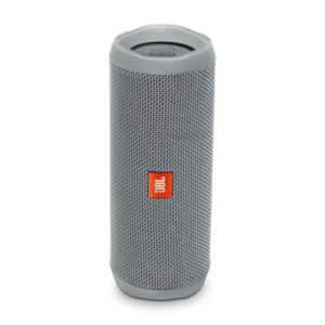JBL Flip 4 Waterproof Bluetooth Speaker ลำโพงพกพาไร้สายกันน้ำ มีไมค์ในตัว เชื่อมต่อการทำงานด้วยระบบบลูทูธ ใช้งานได้ 12 ชม.(สีเทา) JBL FLIP4 ลำโพงบลูทูธ