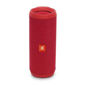 JBL Flip 4 Waterproof Bluetooth Speaker ลำโพงพกพาไร้สายกันน้ำ มีไมค์ในตัว เชื่อมต่อการทำงานด้วยระบบบลูทูธ ใช้งานได้ 12 ชม.(สีเเดง) JBL FLIP4 ลำโพงบลูทูธ