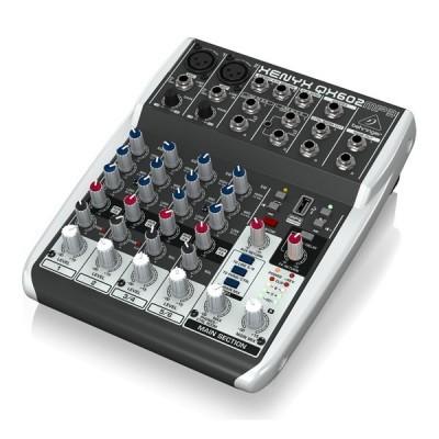 Premium 6-Input 2-Bus Mixer BEHRINGER XENYX QX602MP3 เครื่องผสมสัญญาณเสียงอนาล็อก Mixer BEHRINGER XENYX QX602MP3 มิกเซอร์อนาล็อก