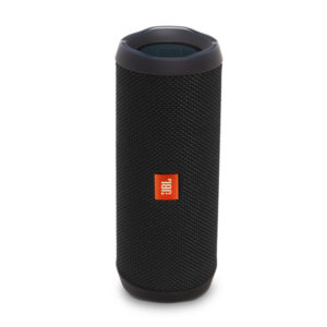 JBL Flip 4 Waterproof Bluetooth Speaker ลำโพงพกพาไร้สายกันน้ำ มีไมค์ในตัว เชื่อมต่อการทำงานด้วยระบบบลูทูธ ใช้งานได้ 12 ชม.(สีดำ) JBL FLIP4 ลำโพงบลูทูธ