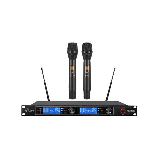 CLEARSOUND CS-520 ชุดไมค์ลอยมือถือคู่ ย่าน UHF CLEARSOUND CS 520 Dual Handheld Wireless Microphone เช็คราคาไมโครโฟน โปรโมชั่น ราคาพิเศษ ซาวด์ดีดี ช้อป