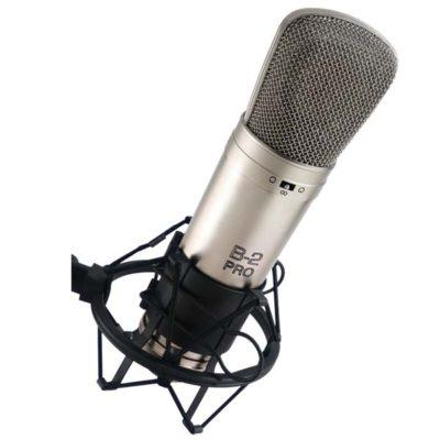 BEHRINGERB-2 PRO Gold-Sputtered Large Dual-Diaphragm Studio Condenser Microphone BEHRINGERB-2 PRO ไมค์บันทึกเสียง BEHRINGERB-2 PROไมโครโพนสำหรับห้องบันทึกเสียง BEHRINGERB2 PROไมค์ห้องอัด