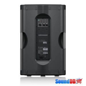 TURBOSOUND M15 ตู้ลำโพง 15 นิ้ว 2 ทาง 1,100 วัตต์ มีแอมป์ในตัว คลาส D ตอบสนองความถี่ 45 Hz–18 kHz ±3 dBและ 40 Hz–20 kHz –10 dBลำโพง 15 นิ้ว