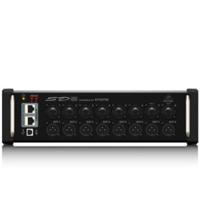 BEHRINGER SD8 I/O Stage Box with 8 Remote-Controllable MIDAS Preamps, 8 Outputs, AES50 Networking and ULTRANET Personal Monitoring Hub BEHRINGER SD8 I/O Stage Box ดิจิตอล สเตจบ๊อกซ์