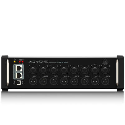 BEHRINGERSD8 I/O Stage Box with 8 Remote-Controllable MIDAS Preamps, 8 Outputs, AES50 Networking and ULTRANET Personal Monitoring Hub BEHRINGERSD8 I/O Stage Box ดิจิตอล สเตจบ๊อกซ์