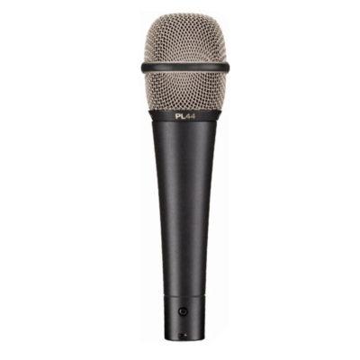 EVPL-44 DYNAMIC SUPERCARDIOID VOCAL MICROPHONE EV PL-44 ไมค์สำหรับร้อง/พูด แบบไดนามิก ทิศทางรับเสียงแบบSUPERCARDIOID ตอบสนองความถี่ 80 Hz - 18,000 Hz Electro-voice PL-44VOCAL MICROPHONE