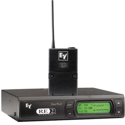EV RE2-BPRE-2 RECEIVER &BODYPACK TRANSMITTER EV RE2-BP ชุดเครื่องรับ-ส่งไมค์ลอยพกพา ย่าน UHF ชุดเครื่องรับสัญญาณ และเครื่องส่งสัญาณไมโครโฟนไร้สาย