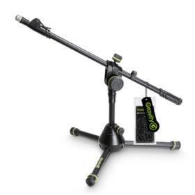 GRAVITYGMS3122HDB Short Heavy Duty Microphone Stand with Folding Tripod Base GRAVITY GMS3122HDB ขาตั้งไมโครโฟน แบบเหล็ก Boom ยาว 88 ซมความสูง 32 ซม. มีน้ำหนัก 2.84 กก. เวลาพับเก็บสำหรับเคลื่อนย้าย ยาว 50 ซม. เหมาะสำหรับไมค์กลองGRAVITY G MS 3122HD B Microphone Standขาตั้งไมค์กลอง