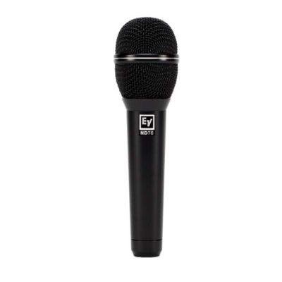 EVND76 DYNAMIC CARDIOID VOCAL MICROPHONE EV ND76 ไมโครโฟนแบบไดนามิก สำหรับร้องและพูดสัมภาษณ์สด ตอบสนองความถี่ 70 - 17,000 HzELECTRO-VOICEEV ND76VOCALMicrophone