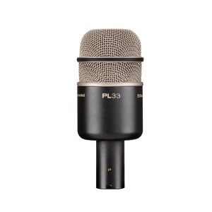 EVPL-33 DYNAMIC KICK DRUM & INSTRUMENT MICROPHONE EV PL-33 ไมโครโฟน ไมค์สำหรับจ่อเครื่องดนตรี แบบไดนามิกไมค์สำหรับจอเสียงเบส กระเดื่องกลอง ตอบสนองความถี่ 20 Hz - 10,000 Hz ELECTRO-VOICE EV PL-33 Instrument Microphone