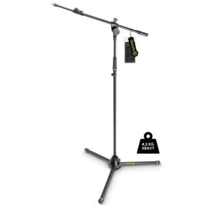 GRAVITYGMS4322HDB Microphone Stand Heavy Duty Microphone Stand, Tripod, 2-point Telescopic Boom GRAVITY GMS4322HDB ขาตั้งไมโครโฟน แบบเหล็ก Boom ยาว 88 ซม ปรับความสูงได้ปรับสูงสุดได้ถึง 169 ซม. และต่ำสุด 103 ซม. มีน้ำหนัก 4.26 กก. เวลาพับเก็บสำหรับเคลื่อนย้าย ยาว 105 ซม.GRAVITY G MS 4322HD B Microphone Stand