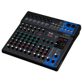YAMAHA MG12XUK เครื่องผสมสัญญาณเสียงอนาล็อก 12 ชาแนล มิกเซอร์ 12 ชาแนล Max. 6 Mic / 12 Line Inputs (6 mono + 3 stereo) / 1 Stereo Bus / 1 AUX (incl. FX)