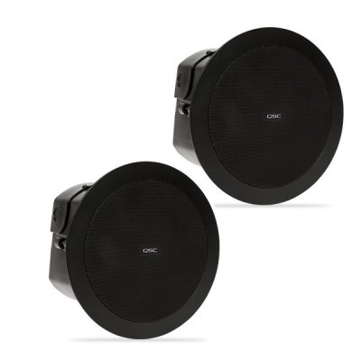 "QSCAD-C4T 4.5"" Full-range, 150° conical QSC AD-C4T ลำโพงติดเพดาน 2 ทาง ขนาด 4.5 นิ้ว 30 วัตต์ แบบไลน์โวลล์ 70V/100V QSC AD-C4Tceiling speaker"