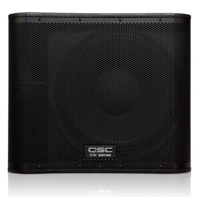 "QSCKW181 ตู้ลำโพงซับวูฟเฟอร์ 18 นิ้ว 1000 วัตต์ มีแอมป์ในตัว คลาส D ความถี่ 40 Hz to 112 Hz QSC KW181 ลำโพง subwoofer 18"" Active Subwoofer"