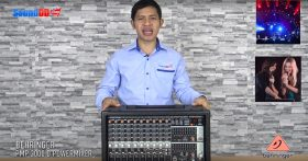 รีวิว BEHRINGER PMP2000D เครื่องผสมสัญญาณเสียง มีแอมป์ในตัว 14 ชาแนล 9 ไมค์ คลาส D 2x1000 วัตต์ ที่ 4 โอมห์Powered Mixer