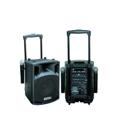 "BIK SLC-8 (Portable PA)8"" PA POTRABLE SPEAKER SYSTEM เครื่องขยายเสียงเคลื่อนที่แบบลากจูง 8 นิ้ว 300 วัตต์รองรับบลูทูธ เครื่องเสียงเคลื่อนที่แบบลากจูง"