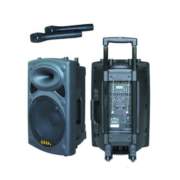 "BIK USK-15V PA Speaker System 450W RMS 15"" BIK USK-15V เครื่องขยายเสียงเคลื่อนที่แบบลากจูง 15 นิ้ว 450 วัตต์ BIK USK-15V เครื่องเสียงเคลื่อนที่แบบลากจูง"