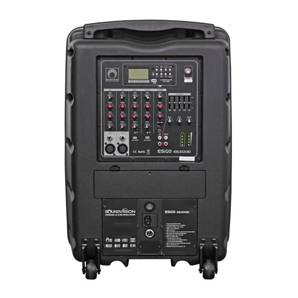 SOUNDVISION ESiGO ESi200D Professional all in one portable speaker เครื่องขยายเสียงเคลื่อนที่แบบลากจูง 2 ทาง ขนาด 12 นิ้ว ESiGO ESi200Dลำโพงลากจูง