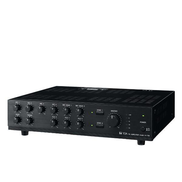 TOA A-1706 ER Mixer Power Amplifier 60 วัตต์ TOA A-1706 ER มิกเซอร์แอมป์ 60 วัตต์ MONO 6 MIC , 5 AUX TOA A-1706 ERMixer Power Amplifier