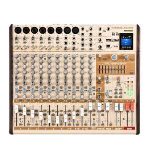 PHONIC AM14GE 6-MONO 4-STEREO INPUT 2-GROUP MIXER WITH DFX, PLUS BT, TF RECORDER AND USB INTERFACE เครื่องผสมสัญญาณเสียง อนาล็อก 14 ชาแนลมิกเซอร์อนาล็อก