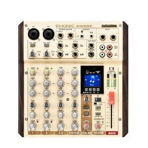 PHONIC AM6GE 2-MIC/LINE 2-STEREO INPUT COMPACT MIXER WITH BT, TF RECORDER AND USB INTERFACE เครื่องผสมสัญญาณเสียง อนาล็อก 6 ชาแนล มิกเซอร์อนาล็อก