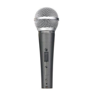 PHONIC DM.690 ไมโครโฟน ใช้สำหรับ ร้อง/พูดและจ่อเครื่องดนตรี หรือใช้ในงานพูดพรีเซนต์ ให้พลังเสียงที่เหมาะสม ใช้งานแบบถือก็เหมาะมือ ใช้งานกับขาตั้งไมค์ก็ดี