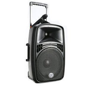 WHARFEDALE PRO EZ-12A เครื่องขยายเสียงเคลื่อนที่แบบลากจูง 12 นิ้ว 100 วัตต์ รองรับ MP3 ผ่าน USB/SD พร้อมบลูทูธเชื่อมสัญญาณในตัว